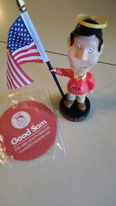 2003 Good Sam VIP Bobblehead (Camping World) with American Flag and Jar gripper.
