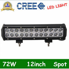 12inch 72W SPOT LED Off road Work Light Car Boat Truck Driving Lamp 6000K 12V24V