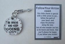 q Be brave and keep going FOLLOW YOUR ARROW Pocket Charm token Ganz courage
