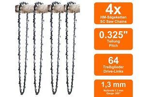 4 Sägeketten passend für McCulloch CS410 ELITE   38cm 0.325 64TG 1,3mm