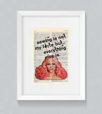 RuPaul Courtney Act Sewing is not my forte Vintage Dictionary Book Print Wall