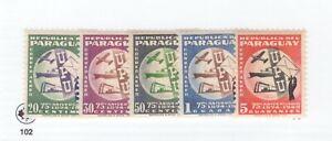 Paraguay,Scott#C179-C183,MH