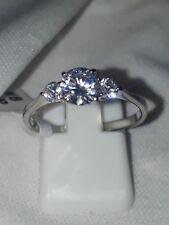 STUNNING ENGAGEMENT SIMULATED DIAMOND STAINLESS STEEL UK N USA 7