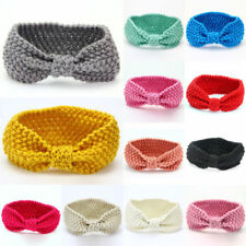 Kids Girl Baby Toddler Crochet Bow Headband Hair Band Accessories Headwear au /b