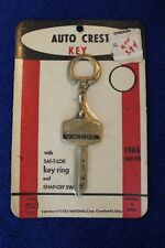 Vintage NOS Auto Crest Ford Falcon Key Blank Key Chain Key Ring Cole National