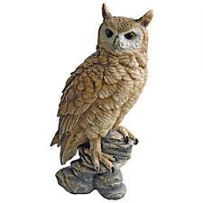 Wizard Mail Carrier Owl Post Mystical Magical Brown Owl Garden Perch Statue