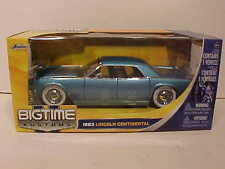 1963 Ford Lincoln Continental Diecast Car 1:24 Jada Toys 8 inch BLUE White Walls