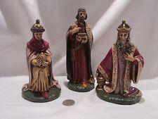 3 KINGS HOLLAND MOLD NATIVITY CHRISTMAS THREE GIFTS ANTIQUE FINISH MAGI LARGE