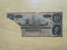 $20 dollar confederate bank note-from the bank heist vault explosion Bcs 579