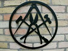 SPENGLER, das Zunftzeichen aus 3mm STAHL, D=40cm Innungszeichen, Wappen