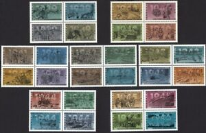 WAR WWII HISTORY 1939-1945 COLLECTION = Canada 1989-1995 MNH 7 BLOCKS of 4