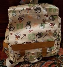 New! My neighbor Totoro Khaki Backpack Bag Anime schoolbag Canvas Rucksack