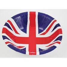 8 X Grande Bretagne Bols Union Jack Papier Plats Patriotique Papier Bols