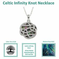 Celtic Inifnity Knot Pendant Earrings Norse Viking Necklace Jewelry Charm Nordic