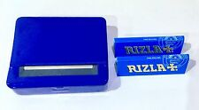 Automatic Rolling Machine Tobacco Case Tin Roller BLUE  + 2 RIZLA BLUE Booklets