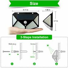 LED Solar Light PIR Motion Sensor Waterproof Sun Powered Garden Decoration Lamp