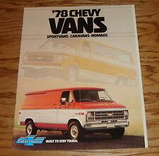 Original 1978 Chevrolet Van Sales Brochure 78 Chevy Sportvan Caravan Nomad