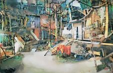 Original Fallout 3 Megaton Apocalyptic Video Game Landscape Painting Wall Art
