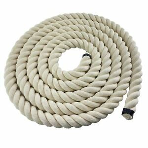 36mm Synthetic White Cotton Decking Rope Decorative Balustrade Select Length