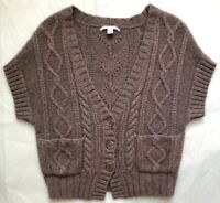Banana Republic Alpaca Blend Cable Knit Sweater Cardigan Size Small