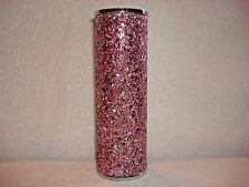Bath & Body Works PINK Metal Glitter Fine Fragrance Mist Cover Sleeve Holder
