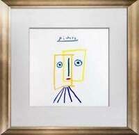 """Pablo PICASSO Lithograph Limited Ed. SIGNED """"La Musa y el Rio"""" w/FRAME"""