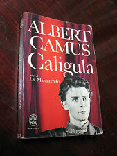 ALBERT  CAMUS  CALIGULA 1958 GALLIMARD  FRANCE  FRENCH  TEXT VG
