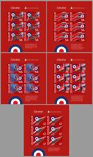 Gibraltar 2014 RED ARROWS VLIEGTUIGEN AIRPLANES -S H E E T L E T S- postfris/MNH