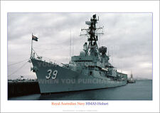 HMAS HOBART 39 ROYAL AUSTRALIAN NAVY A3 POSTER PRINT PICTURE PHOTO IMAGE