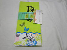 Blooming Impressions Embroidery Monogram D Guest Towels  Set of 2 Lime - Floral