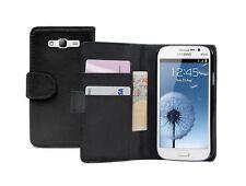 Billetera De Cuero Negro Funda Pouch Para Samsung Galaxy Grand Duos Gt-i9082