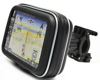 "Waterproof Bicycle/Motorcycle Mount & Case for 3.5"" 4.3"" Garmin Nuvi, TomTom GPS"