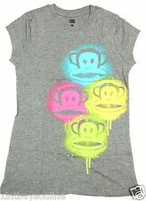 Paul Frank T Shirt Women's  Graffiti Stencil Julius Grey  100% Cotton