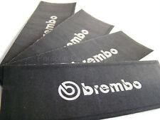 4x 90MM BREMBO BRAKE CALIPER STENCIL STICKERS, CUT-OUT, PAINT OVER DECAL
