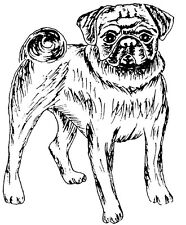 Unmounted Rubber Stamps, Dog Rubber Stamps, Stamp Sets, Pugs, Pug and Pug Quote