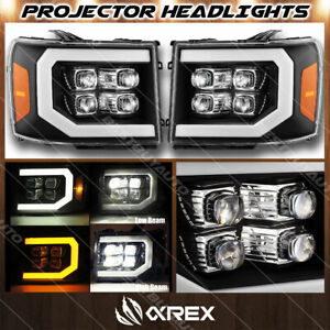 For 07-13 GMC Sierra 1500 2500 3500 HD Black Nova Series Projector Headlights