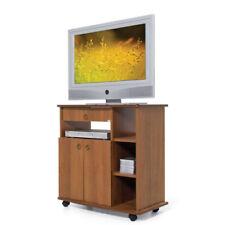 Mobile carrello porta TV con ruote ante e cassetto colore noce antico televisore