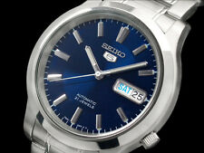 Seiko 5 Automatic Mens Watch 21 jewel Skeleton Back Blue dial SNK793K1 UK Seller