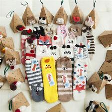 Women Cute Cozy Warm Winter Animal Fuzzy Thicken Soft Ankle Floor Socks Hosiery