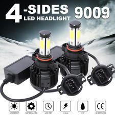4-Side 360° 9009 LED Headlight Bulb Fog Light Kit 5202 6500K 120W 32000LM Canbus