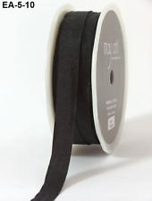 1/2 Inch Solid Wrinkled Ribbon - May Arts - EA10 - Black - 5 yds.