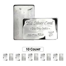 10 x 1 .999 Silver Bars Rounds Plus 1 24kt GP .999 Silver Buffalo Bar