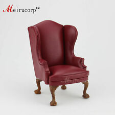 1/6 Scale Doll Furniture Dark Red chair Leather for 12in to 14in Doll Handmade
