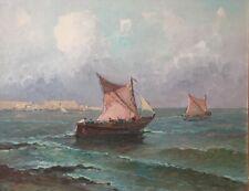 """pittore Antonio Madonna dipinto olio su tavola """"marina"""" cm.35x45"""