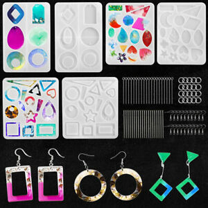 Charm Resin Jewelry Molds Silicone Mold Epoxy Casting Earring Pendant Making