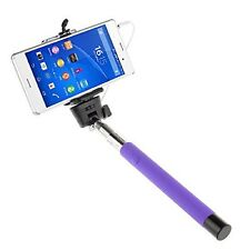 Purple Extendable Selfie Stick Adjustable Holder for HTC 10 One A9s M8 Desire