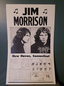 Vintage Jim Morrison poster 1967 mugshot fingerprints basement find The Doors