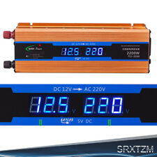 2200W Peak Modified Sine Wave Power Inverter DC 12V to AC 220V 240V Car Caravan