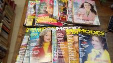 Lot de 25 revues modes et travaux des années  1980 -  1990