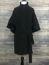 Hilary Radley Cape Sleeve Belted Wool Blend Coat (Size: XS)